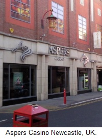 Aspers Casino at the Gate, Newcastle, UK.
