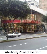 Atlantic City Casino, Lima, Peru.