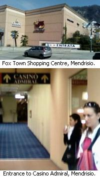 Casino Admiral part of Fox Town shopping centre, Mendrisio, Switzerland.