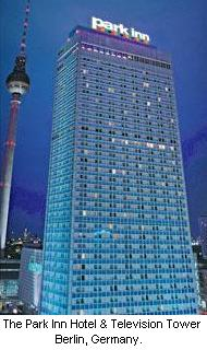 Casino Berlin located in the Park Inn Hotel Alexanderplatz and below the Television Tower, Berlin, Germany.