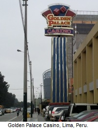 Golden Palace Casino, Lima, Peru.