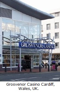 Grosvenor Casino Cardiff, Wales, United Kingdom.