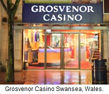 Grosvenor Casino Swansea, Wales.