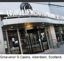 Grosvenor G Casino Aberdeen, Scotland.