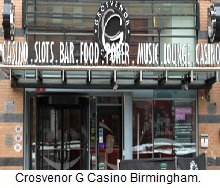 Grosvenor G Casino Birmingham.