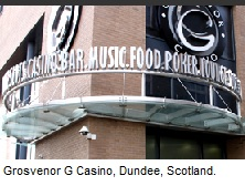 Grosvenor G Casino Dundee, Scotland.