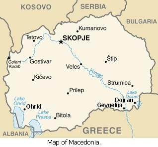 Map of Macedonia.