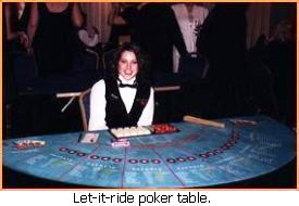 Let It Ride Poker Table.